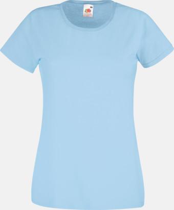Sky Blue Figursydd damt-shirt med reklamtryck