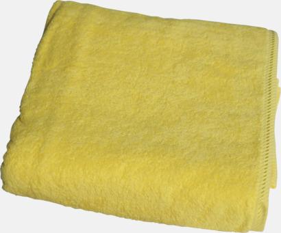 Bright Yellow Bomullshanddukar i 3 storlekar med reklambrodyr