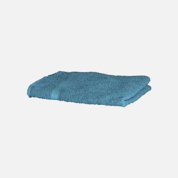 Teal Exklusiva handdukar med egen brodyr