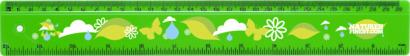Grön 30 cm-linjaler i många färger med reklamtryck