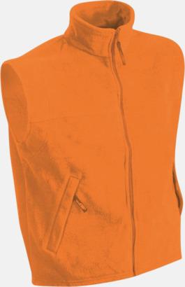 Orange Fleeceväst i herrmodell med egen brodyr
