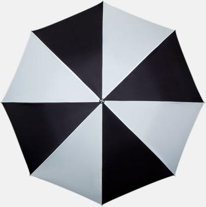 Svart / Vit Randiga paraplyer med eget tryck