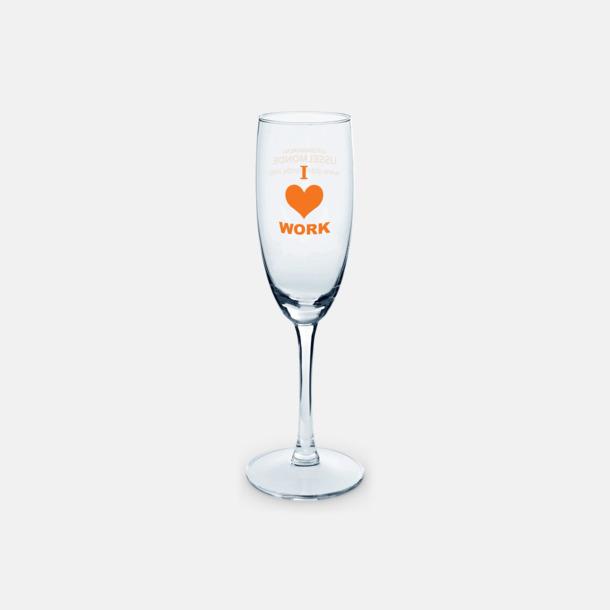 Transparent Champagneglas med tryck av egen logga