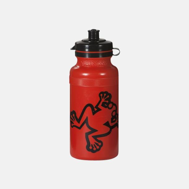 Röd Vattenflaskor i 4 storlekar med reklamtryck