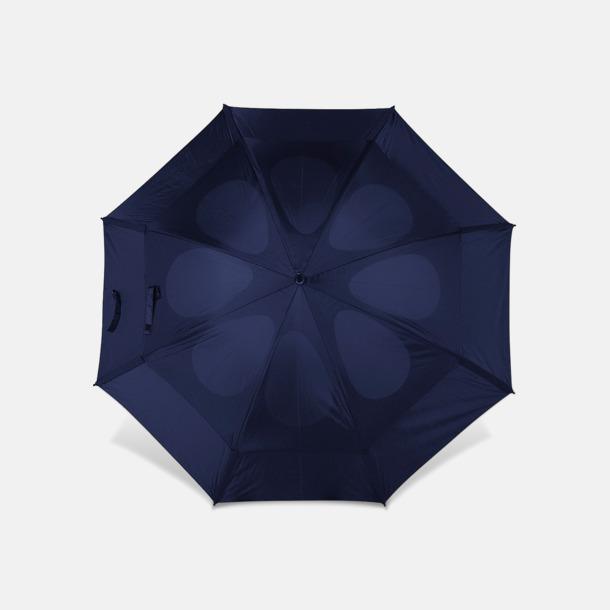 Marinblå Stormaparaply med reklamtryck