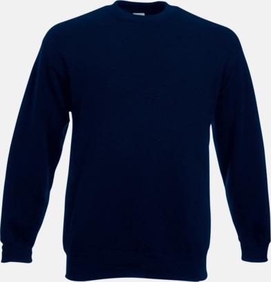 Deep Navy Klassisk sweatshirt med reklamtryck