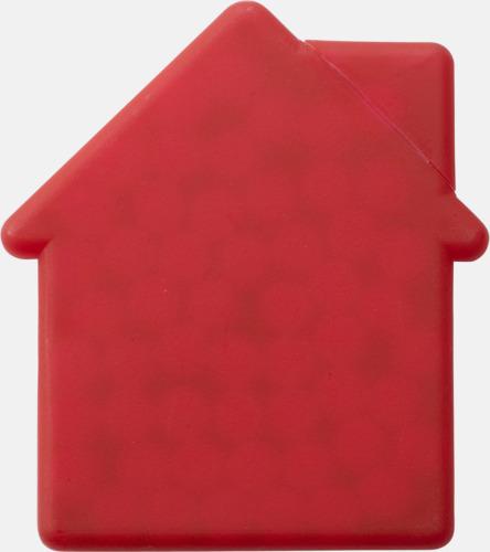 Röd (hus) Fresh cards i olika former fyllda med mintgodis - med reklamtryck