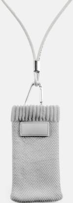 Ljusgrå Mobilstrumpa med eget tryck