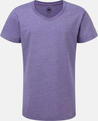 Purple Marl (v-neck flicka) Barn t-shirts i u- och v-hals med reklamtryck