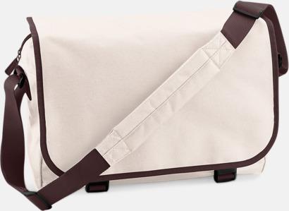 Sand/Chocolate Billiga väskor med reklamtryck