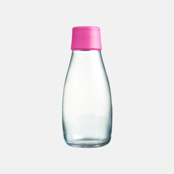 Pink Mindre vattenflaskor av glas med reklamtryck