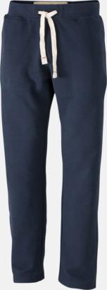 Marinblå (herr) Färgglada mjukisbyxor i herr- och dammodell med reklamtryck