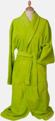 Limegrön Färgglada badrockar med brodyr