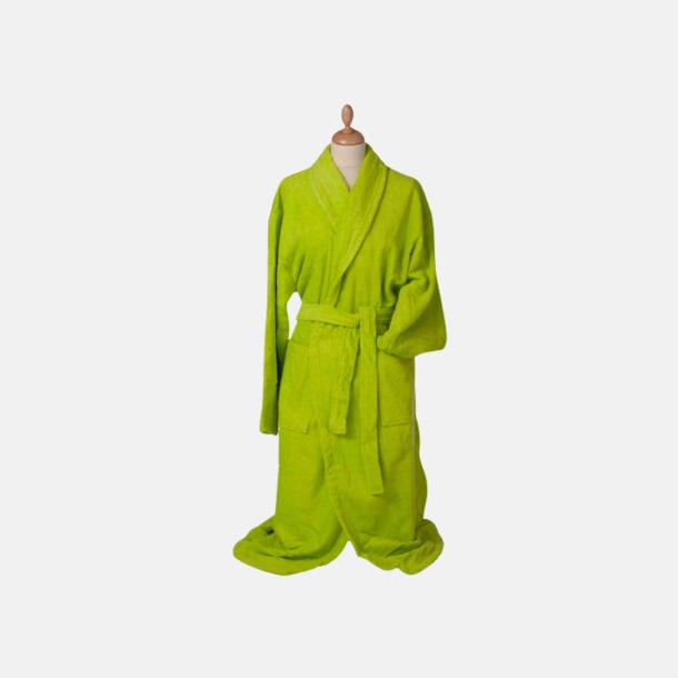 Limegrön (medel) Färgglada badrockar med reklambrodyr
