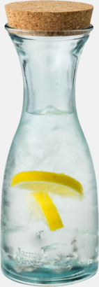 Serveringskaraff av 100 % återvunnen glas - med reklamlogga