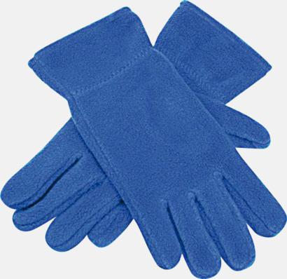 Royal Blue Fleecevantar i många färger med brodyr