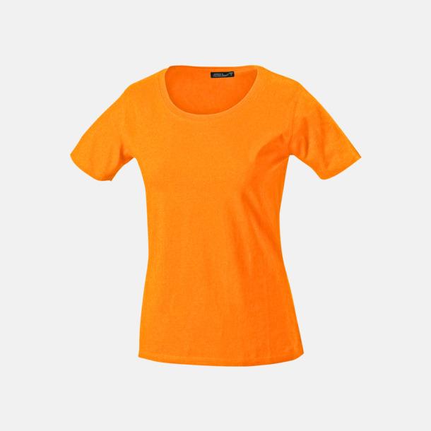 Orange T-shirtar av kvalitetsbomull med eget tryck