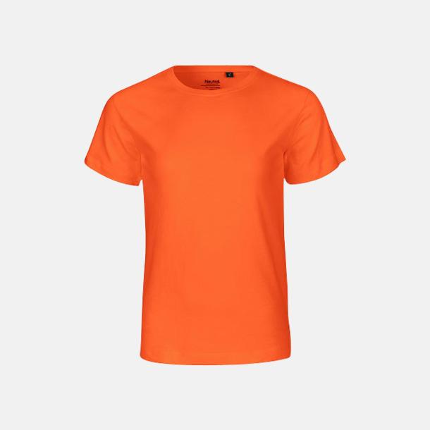 Orange (PMS 021 C) Ekologiska t-shirts för barn av ekologisk bomull - med tryck