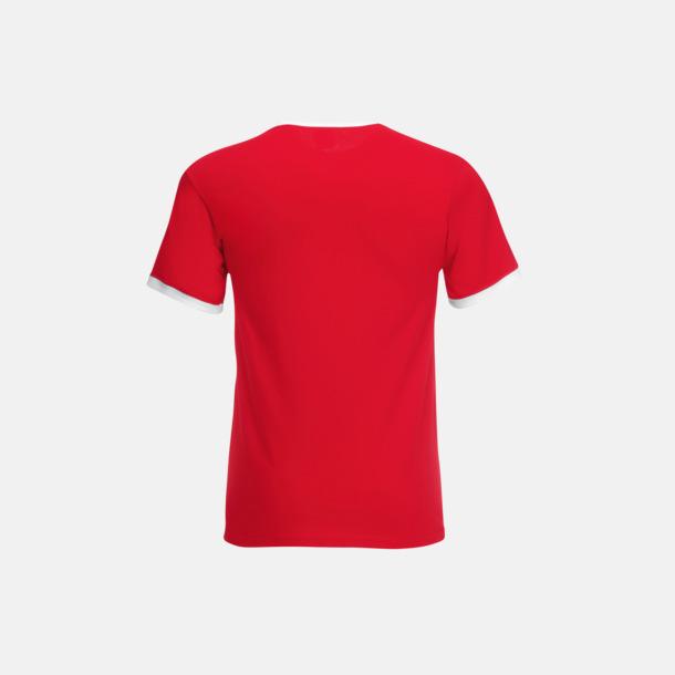 T-shirt med kontrasterande färger - med reklamtryck
