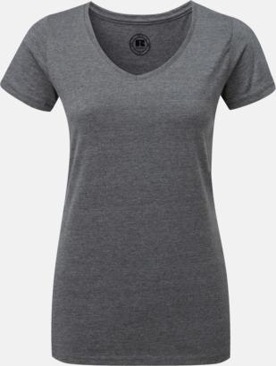 Grey Marl (v-neck dam) Färgstarka t-shirts i herr- och dammodell med reklamtryck