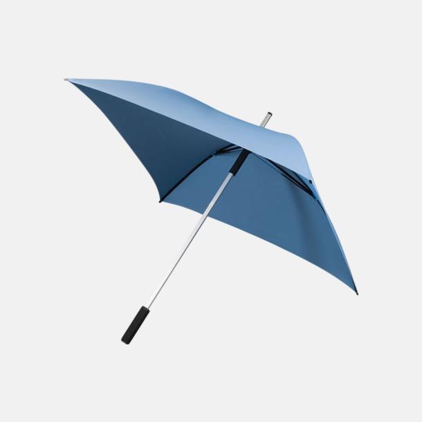 Ljusblå Fyrkantiga Paraplyer med eget tryck