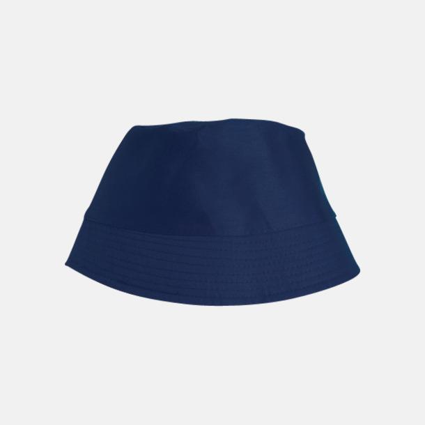 Marinblå Bomullshattar i enfärgade- och tvåfärgade varianter med reklamtryck
