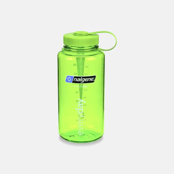 Everyday Green/Grön (1 l) Färgglada vattenflaskor med eget tryck