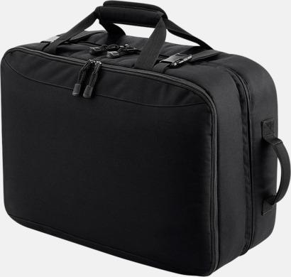 Svart Flygplanskabin kompatibla resväskor med reklamtryck
