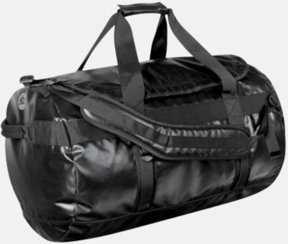 Svart Vattentäta bagar & ryggsäckar med reklamtryck