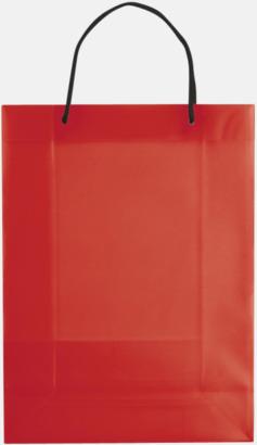Transparent Röd (stor) Butikskassar i 2 storlekar med reklamtryck