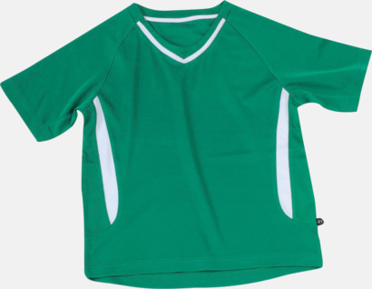 Grön / Vit Snabbtorkande funktionströja med eget tryck eller bordyr
