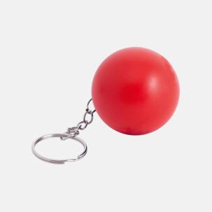 Små stressbollar för nyckelknippan med eget tryck