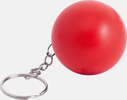Röd Små stressbollar för nyckelknippan med eget tryck