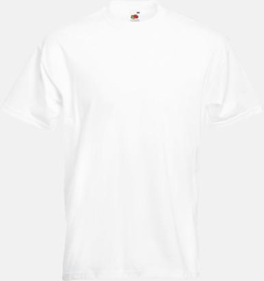 White Kraftig t-shirt med reklamtryck