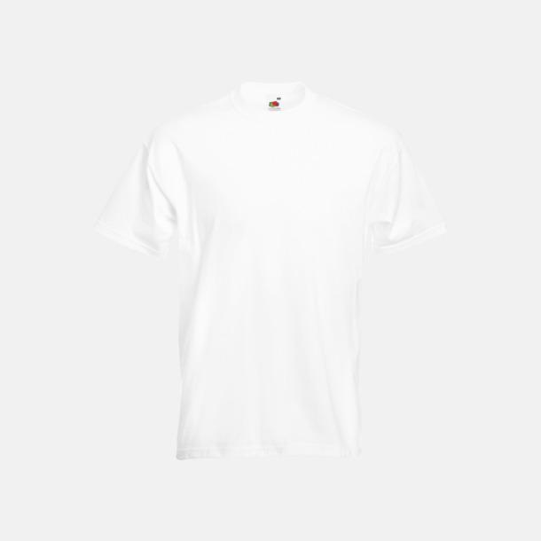 Vit Kraftig t-shirt med reklamtryck