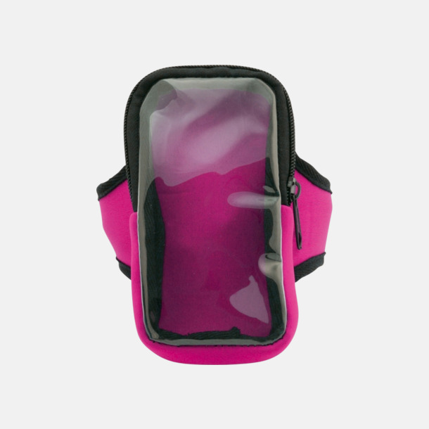 Rosa Joggingarmband av softshell för mobiltelefonen med reklamtryck