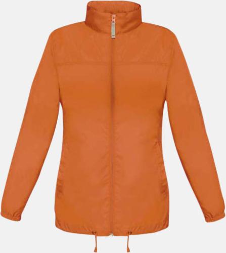 Orange (dam) Vind- och vattentäta jackor för dam, herr och barn - med tryck