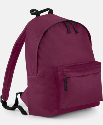 Burgundy Klassisk ryggsäck i 2 storlekar med eget tryck