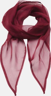 Burgundy Tunna accessoarscarfs i många färger