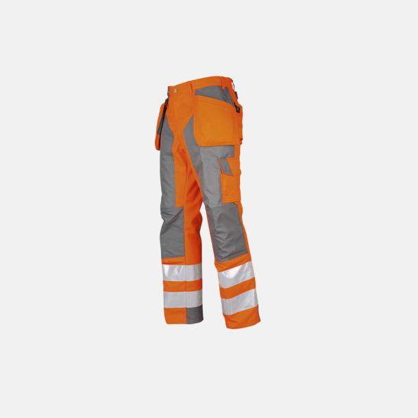 Orange/Grå Midjebyxa med kraftiga reflexer Klass 2