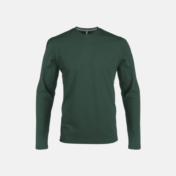 Forest Green (crewneck, herr) Långärmad t-tröja med rundhals för herr och dam med reklamtryck