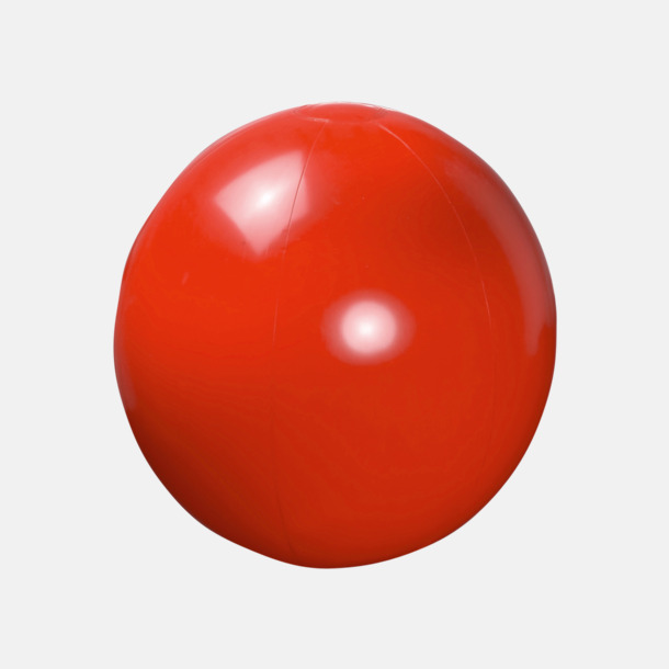 Röd Lite större, enfärgade badbollar med reklamtryck