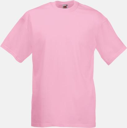 Ljusrosa Valueweight t-shirt med tryck