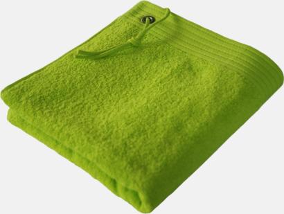 Lime Badhanddukar med ögla och snöre - med reklambrodyr