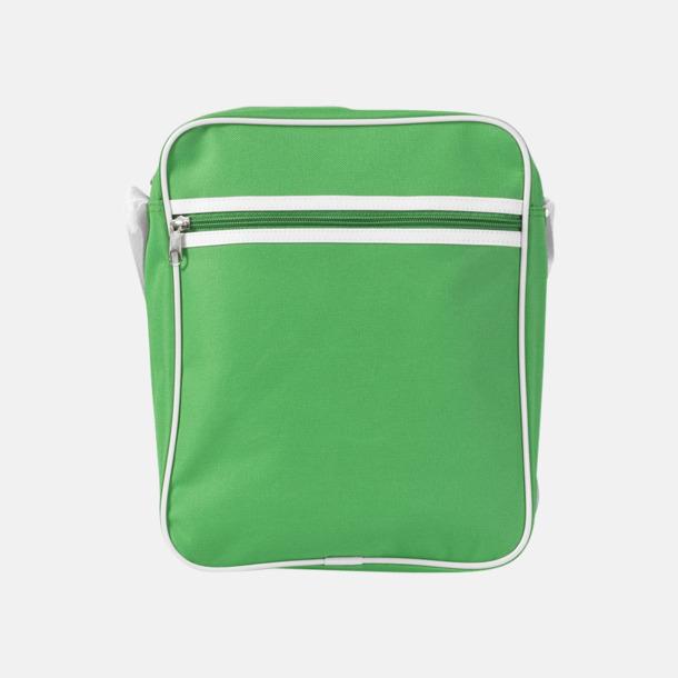 Klargrön Liten väska med retrokänsla - med reklamtryck