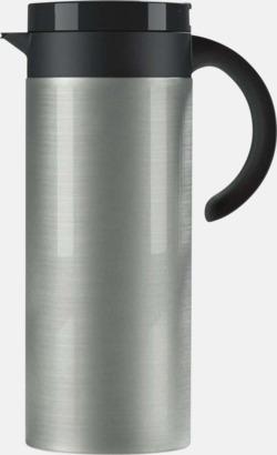 Lackad stål (silver) Buffés kaffekanna med reklamtryck
