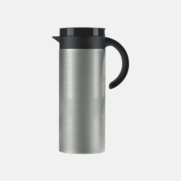Borstad (silver) Buffés kaffekanna med reklamtryck