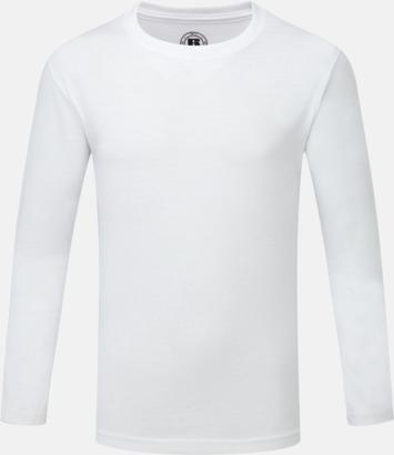 Vit (pojke) Långärms t-shirts i herr-, dam och barnmodell med sublimering