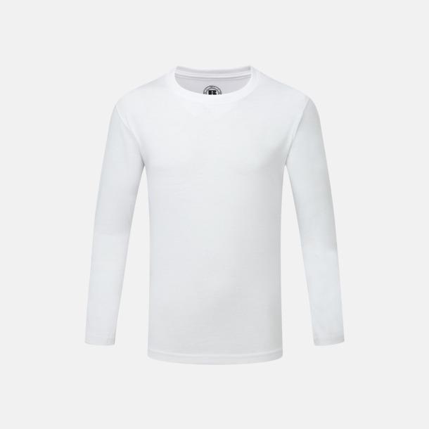 Vit (barn) Långärms t-shirts i herr-, dam och barnmodell med sublimering