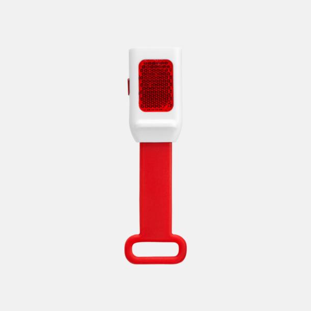 Röd Reflexlampor som är lätta att fästa - med reklamtryck